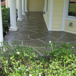 Southern concrete designs llc photo gallery 1 for Stained front porch