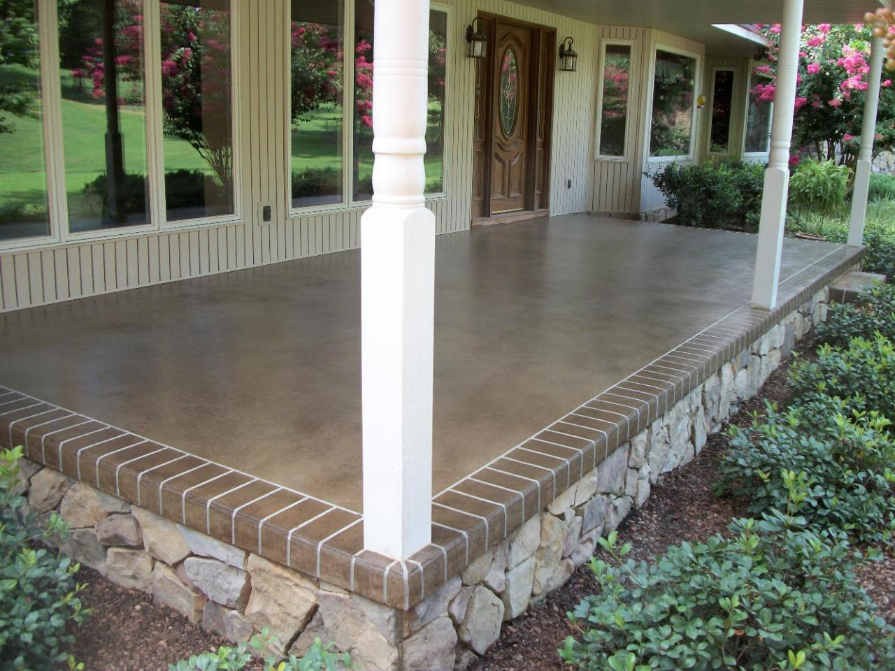 Southern concrete designs llc photo gallery 2 for Porch tiles designs for houses